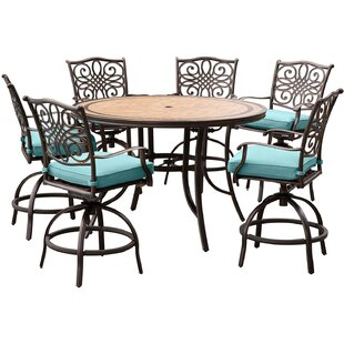 Bucci 7 Pieces High-Dining Set with Cushions