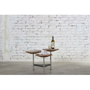 Latitude Run Harpersfield Iron and Wood 3 Tier End Table