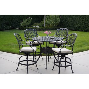 Keyes 5 Piece Dining Set with Cushions