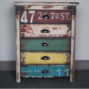 Attraction Design Home Bureau 5 Drawer Nightstand