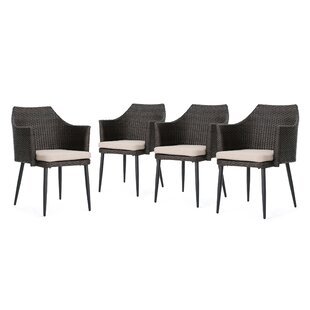 Rivera Patio Dining Chair with Cushion (Set of 4)