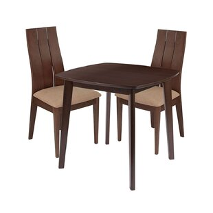 Kenzo 3 Piece Solid Wood Dining Set (Set of 3) by Ebern Designs