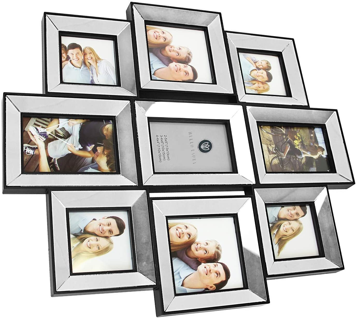 Hello Laura Photo Frame 21x24 Inner Mirror Picture Frame Made To Display Pictures 4x6 4x4 5x5 Wide Moulding Multi Selfie Gallery Collage Wall Hanging Wall Mounting Design Wayfair Ca