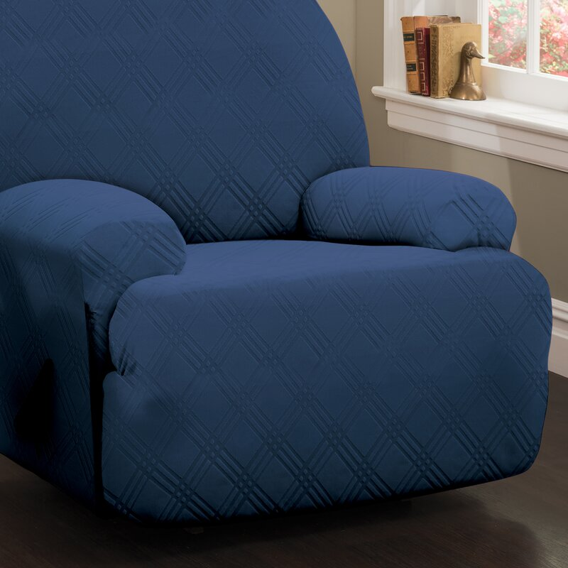 Double Diamond Sensations Box Cushion Recliner Slipcover