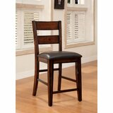 RJ Solid Wood 25.5 Counter Stool (Set of 2) by Red Barrel Studio®