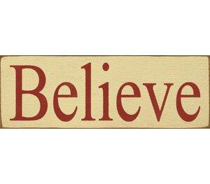 Believe Textual Art Plaque