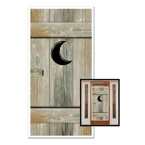 Outhouse Door Cover Wall Decor (Set of 2)