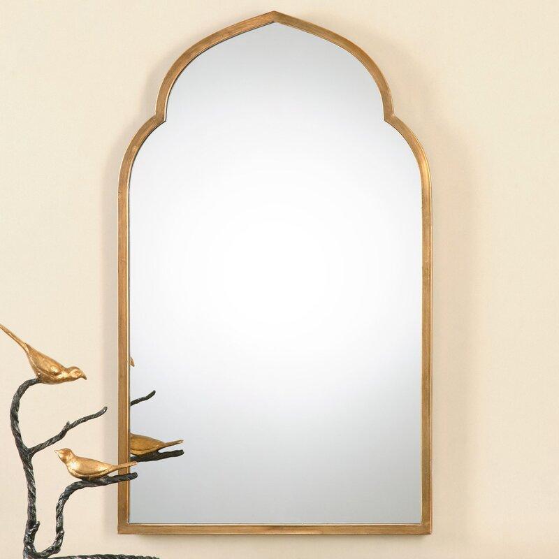 Arch Wall Mirror one allium way gold arch wall mirror & reviews | wayfair