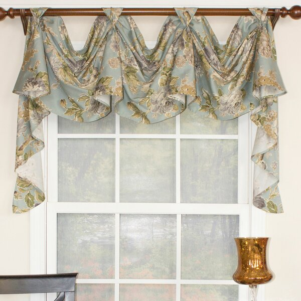 Cornice Style Fits Single Window 33-42 Inches ONLY Jacobean Floral; P Kaufmann Finders Keepers Shaped Rod Pocket Custom Valance