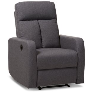Jinnie Modern And Contemporary Push Button Power Recliner by Latitude Run