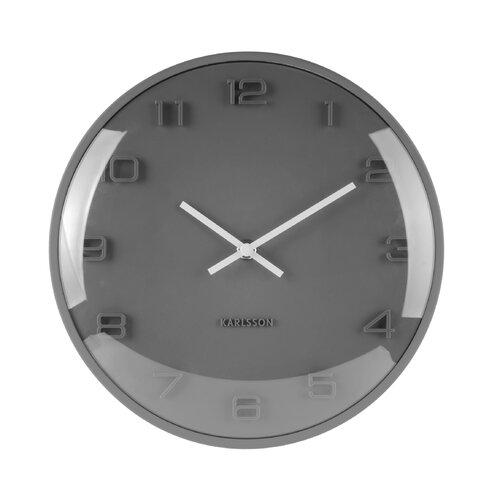 Wanduhr Elevated 25 cm | Dekoration > Uhren | Grau | Karlsson