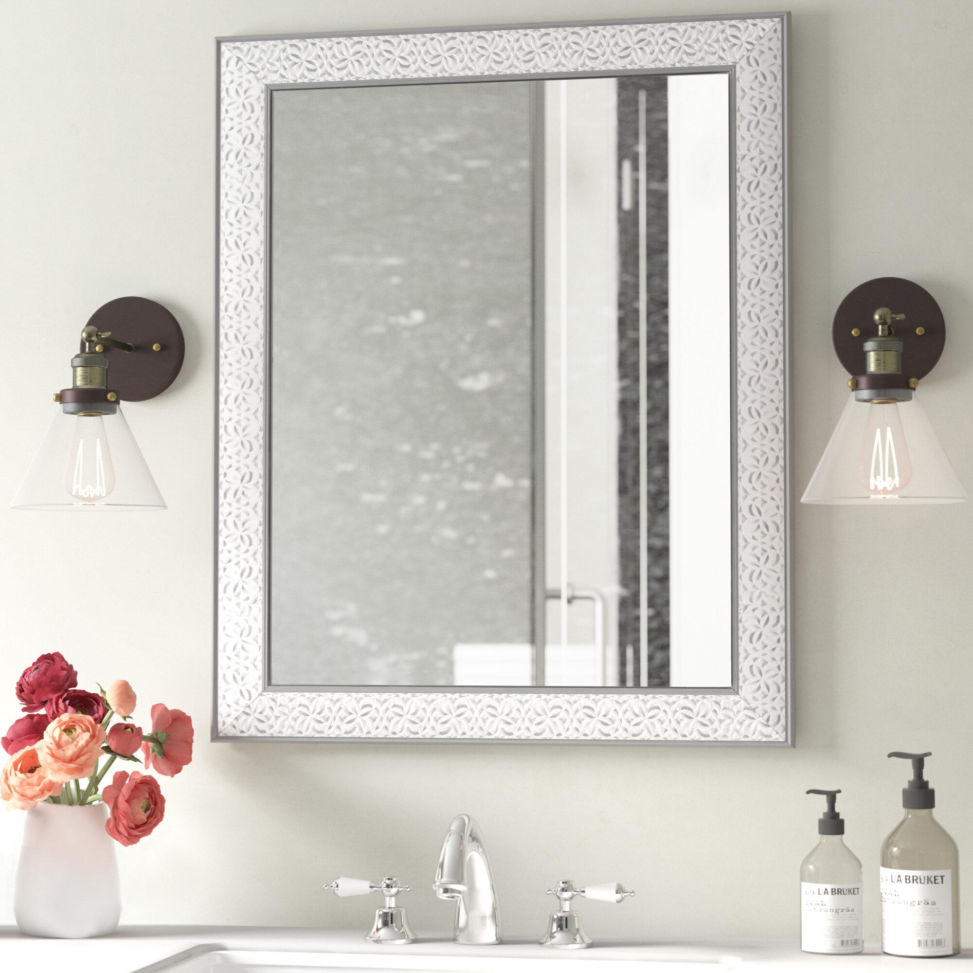 Vanity Mirror.Encanto Modern Contemporary Beveled Bathroom Vanity Mirror