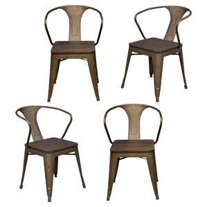 Racheal Solid Wood Dining Chair (Set of 4) by Tr..