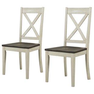 Cheryll Solid Wood Cross Back Side Chair Birch Lane