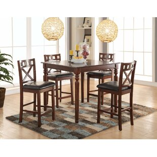 Noblestown Wonderful Counter Height Solid Wood Dining Table by Charlton Home