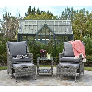 Vallauris 5 Piece Lounge Seating Group with Cushion