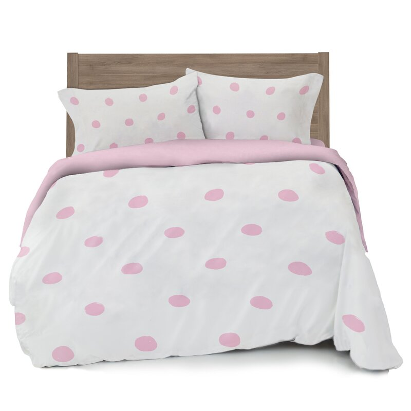 white pillowcase dot bedding polka include king linen product textiles bedclothes comforter cover home and green set aa sheet bed duvet sets