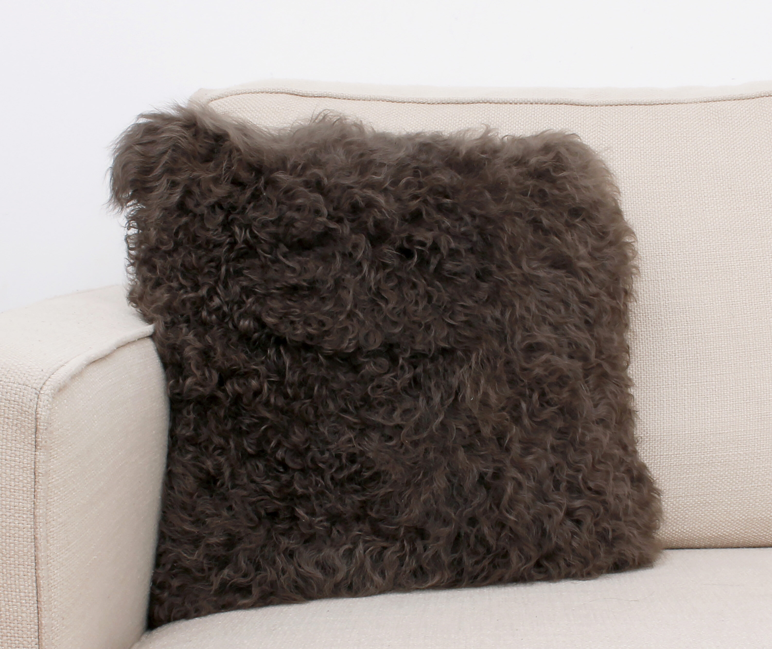Dania Fur Throw Pillow