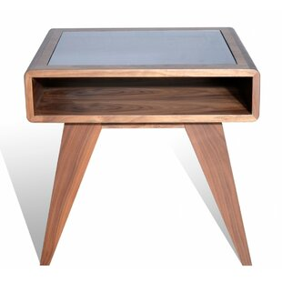 Hali End Table in Brown by Brayden Studio