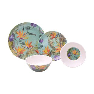 Calabria 12 Piece Melamine Dinnerware Set, Service for 4