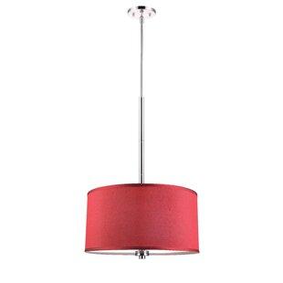 Affordable 3-Light Drum Chandelier By Woodbridge Lighting