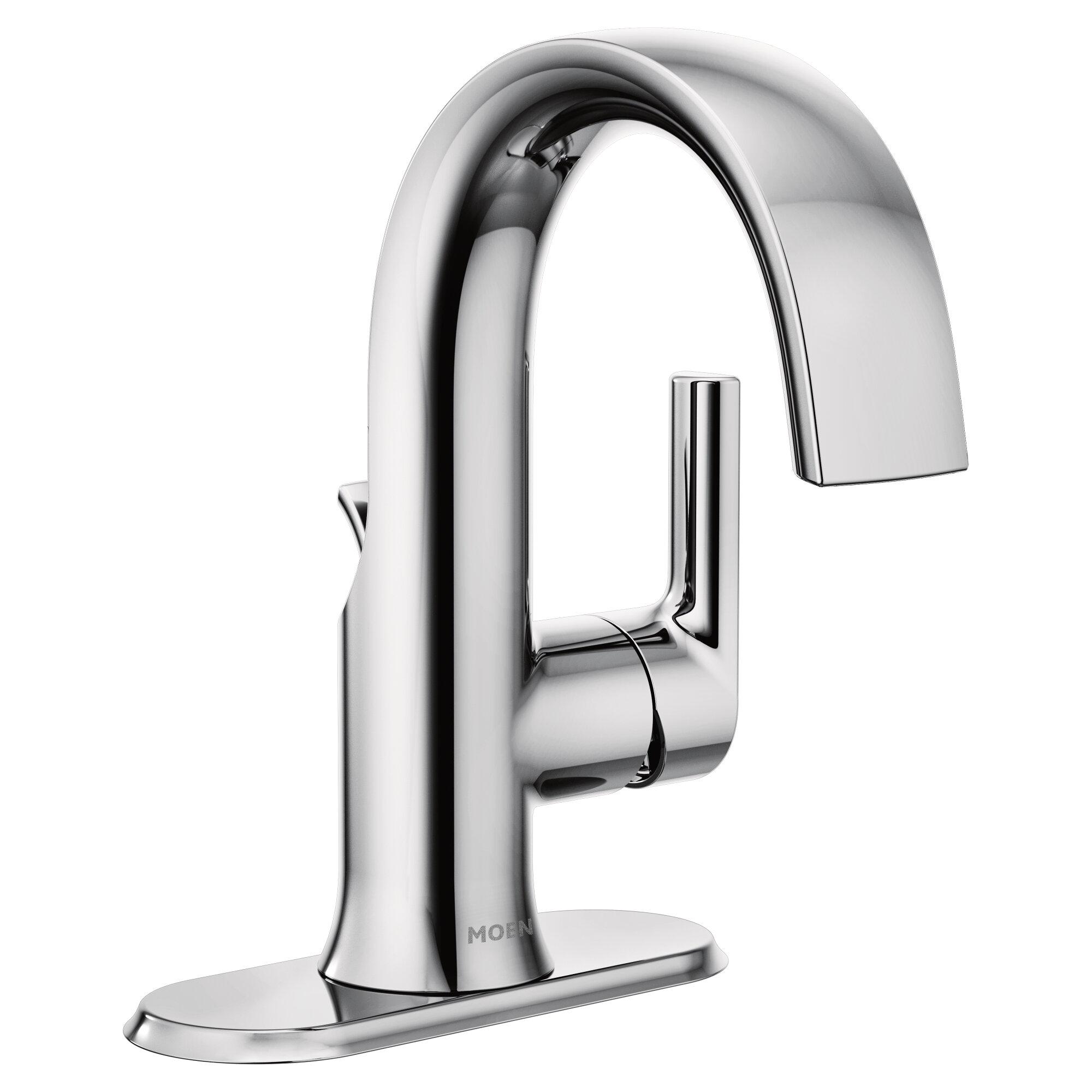 Moen Doux Single Hole Bathroom Faucet With Drain Assembly Reviews Wayfair
