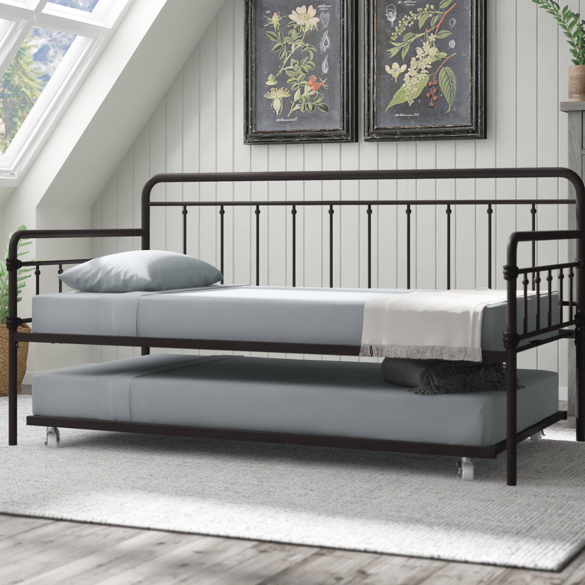 daybed ikea gracie oaks truxton twin daybed with trundle reviews wayfair