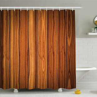 Rustic Home Decorative Bound Wood Line Timber Trunk Maple Stem Birch Branch Shower Curtain Set