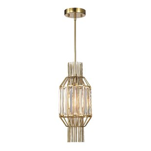Nadeau 1-Light Crystal Pendant by Mercer41