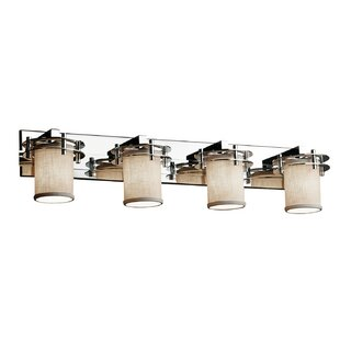 Wrought Studio Hostetter 4 Light LED Cylinder w/ Flat Rim Vanity Light