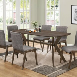 Wrought Studio Decamp Mid-Century Wooden Dining Table