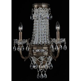 Alpha 2-Light Empire Chandelier by Classic Lighting