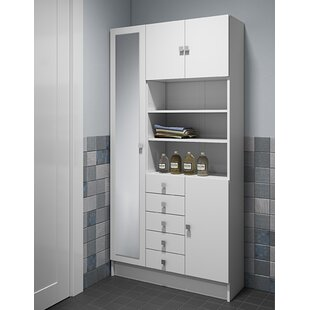 90 X 181.6 Cm Free Standing Tall Bathroom Cabinet By Mercury Row
