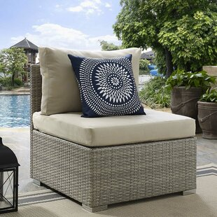 Heiner Fabric Armless Patio Chair with Sunbrella Cushion by Highland Dunes