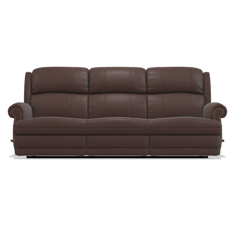 La-Z-Boy Kirkwood Reclina-Way® Full Leather Reclining Sofa & Reviews ...
