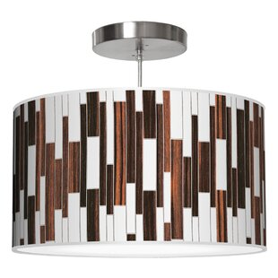Jef Designs Tile 1 Drum Pendant