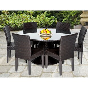 Meier Outdoor 7 Piece Dining Set with Cushions By Rosecliff Heights