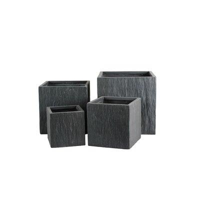 Modern Square Fiber Clay Pot Planter