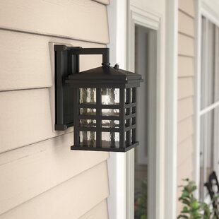 Velazco Outdoor Wall Lantern with Dusk to Dawn Sensor