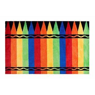 Crayon Box Red/Green Area Rug ByCrayola LLC