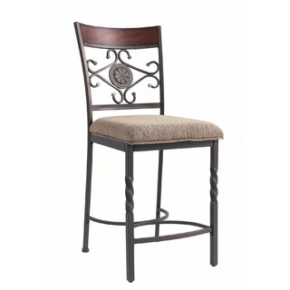 Ahumada Upholstered Counter Height Dining Chair (Set of 2) by Fleur De Lis Living SKU:ED552646 Check Price