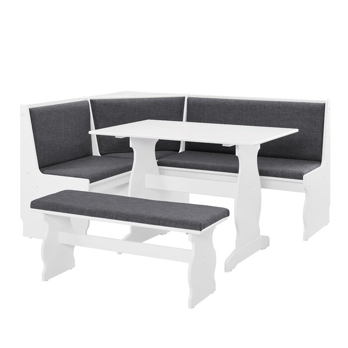 Awesome Olivia 3 Piece Breakfast Nook Dining Set Gmtry Best Dining Table And Chair Ideas Images Gmtryco