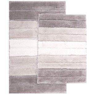 Saulsberry Ombre Shade 2 Piece Bath Rug Set