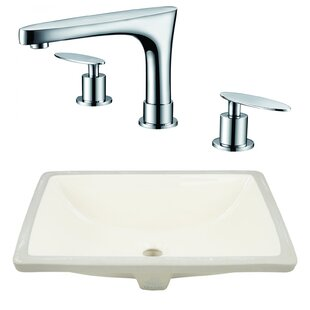 Comparison CSA Ceramic Rectangular Undermount Bathroom Sink with Faucet and Overflow By Royal Purple Bath Kitchen