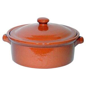3L Terracotta Round Casserole