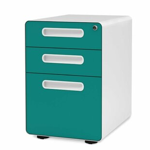 Cornelison 3 Drawer Mobile Vertical Filing Cabinet