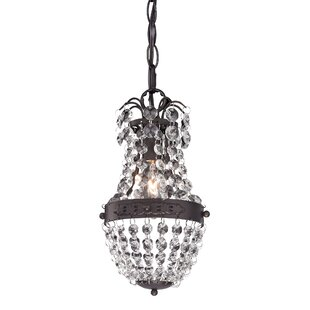 Shop For Kissel 1-Light Crystal Pendant By House of Hampton