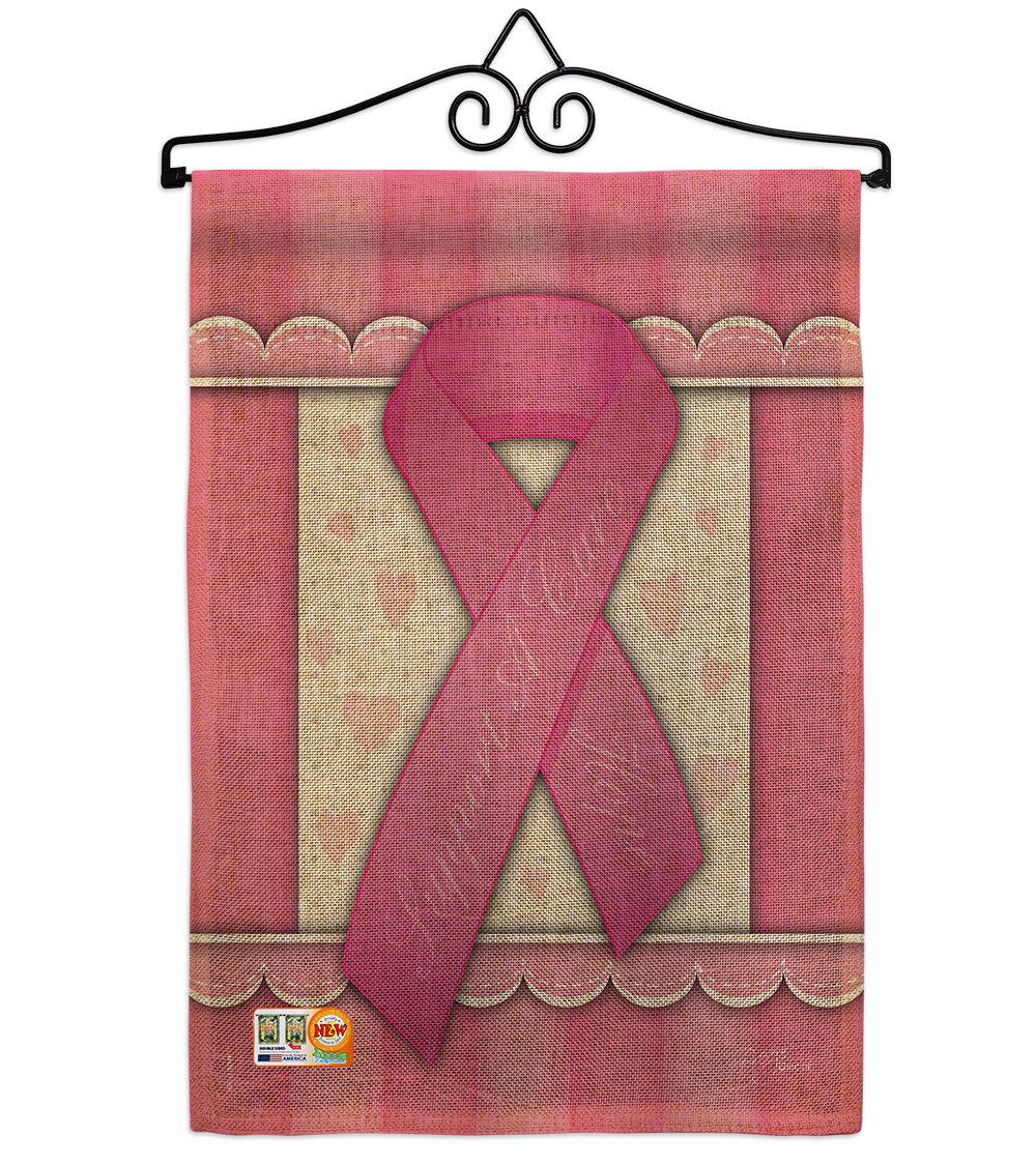 Breeze Decor Support A Cure Burlap Inspirational 2 Sided Burlap 19 X 13 In Garden Flag Wayfair