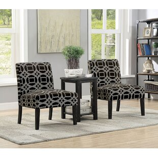 Boronda Transitional 3 Piece Dining Table Set by Ivy Bronx