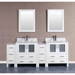 Amara 84 inch  Double Bathroom Vanity Set with Mirror